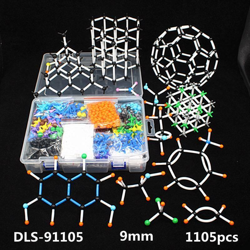 1105Pcs Conjunto De Modelo Molecular Química Orgánica moléculas estructura Model Kits 9 mm