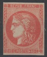 """FRANCE STAMP TIMBRE N° 48c """" CERES BORDEAUX 40c ROUGE ORANGE""""NEUF (x) VOIR  K702"""