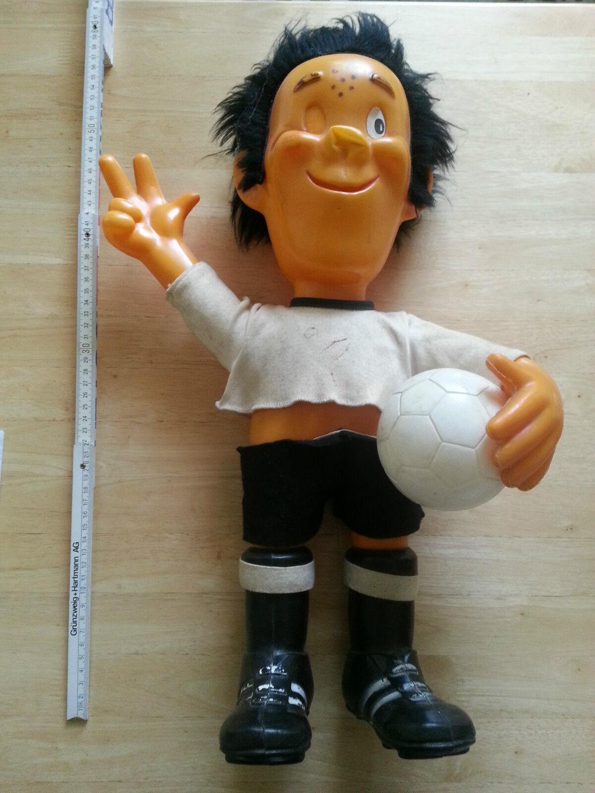 B706 MASKOTTCHEN MASKOTTCHEN B706 Weltmeisterschaft WM 1974 Tip Tap Bundesliga Fußball DFB 57cm b47c38