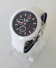 Lacoste Herren Uhr Borneo Chronograph weiß blau rot Silikon 2010705