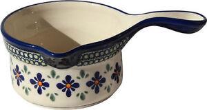 Polish Pottery Saucepan from Zaklady Boleslawiec gu269/du60