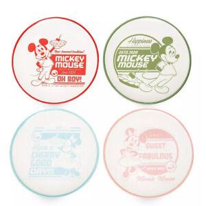 Disney Parks Mickey And Minnie Retro Ceramic Measuring Cup Set New