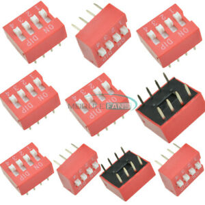 100pcs-Red-2-54mm-Pitch-4-PositionWay-4-Bit-4P-Slide-Type-DIP-Switch-Module