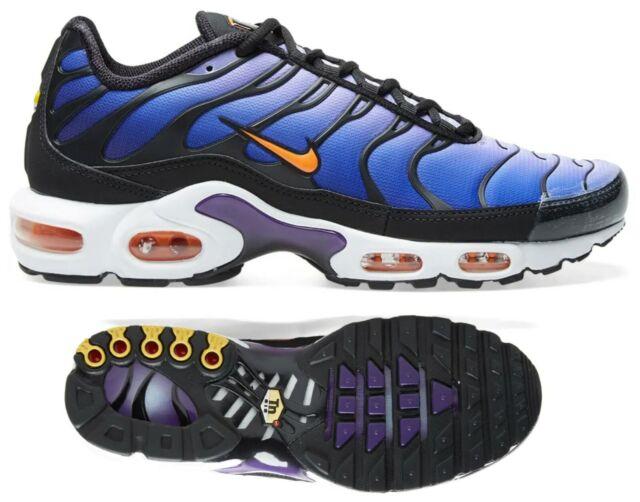 online store 12d9b cf332 New NIKE Air Max Plus TN Men's Sneakers black purple sizes 9-12