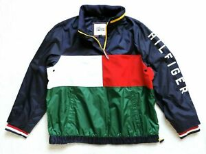 Tommy Hilfiger Ladies/' Windbreaker Womans Jacket Red White Navy 3 color
