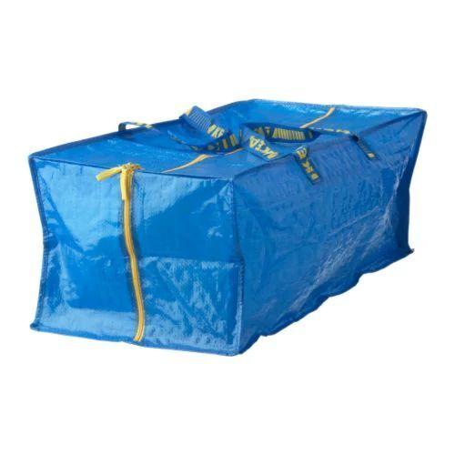IKEA FRAKTA Large Blue Zipped Trunk Storage and Carrying Bag 76L