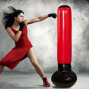 160cm Inflatable Stress Punching Bag Boxing Free Standing Water Base with Pump