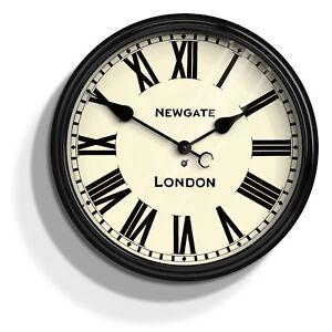 NEWGATE-CLOCKS-Battersby-Black-Large-Roman-Numeral-Analogue-Wall-Clock-50cm