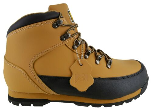 MENS LEATHER SAFETY WORK BOOTS STEEL TOE CAP SHOES TRAINER HIKER SIZE 6-12  SALE