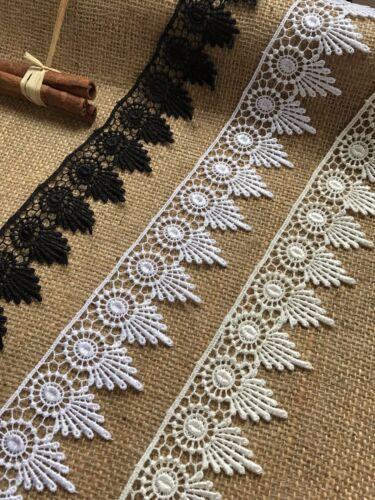 "Beautiful Ivory Guipure//Venise Lace  2/"" wide Craft Trim Sew Bride Invitation"