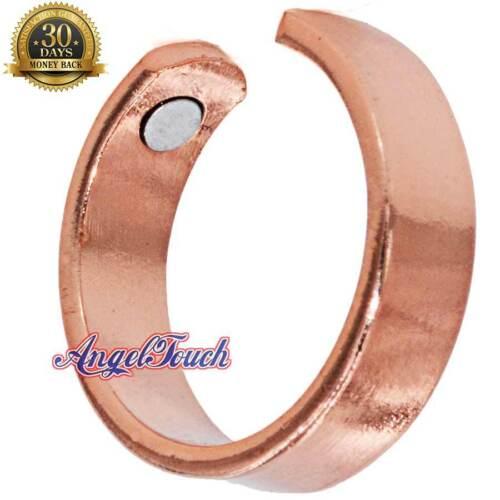 SHINY SOLID COPPER MAGNETIC RING MEN WOMEN ARTHRITIS PAIN SIZE 7-10 CR07