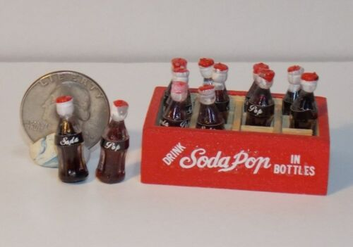 Dollhouse Miniature Soda Pop Wooden Crate 1:12 inch scale  F7 Dollys Gallery