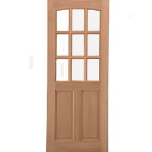 Image Is Loading External Front Back Wooden Door GEORGIA Hardwood 9