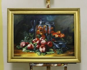 Painting-Fruit-Handmade-Oil-Painting-Picture-Oil-Frame-Pictures-G95775