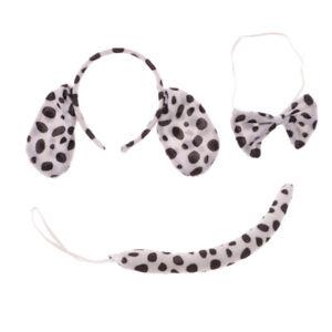 Boy Girl Kids Dalmatian Dog Animal Fancy Dress Costume Ear Headband