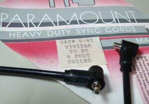 Paramount-V-4C-Vivitar-to-PC-5-Ft-Coiled-Cord-NEW