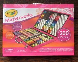 crayola pink 200 piece masterworks art case toy 696233449862 ebay