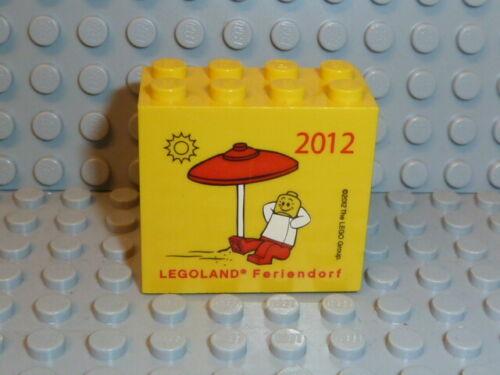 LEGO® Motivstein gelb 2x4x3 bedruckt Legoland Feriendorf 2012 30144pb119 K491