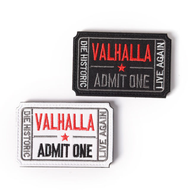 ticket to valhalla morale military tactical vikings patch army badge armband #SP