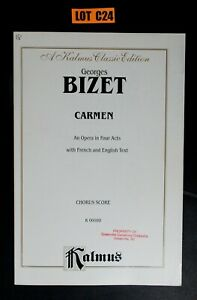 George-Bizet-Carmen-Chorus-Score-French-amp-English-Kalmus-Paperback-Lot-C24