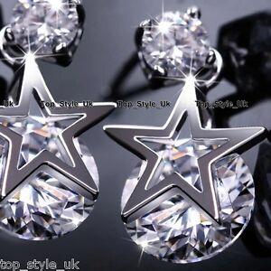 925-Silver-Star-Crystal-Stud-Dangle-Earrings-Gifts-for-Her-Girl-Daughter-Mum-FR2