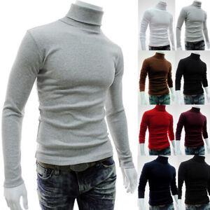 USA-Men-039-s-Winter-Warm-Cotton-High-Neck-Pullover-Jumper-Sweater-Tops-Turtleneck