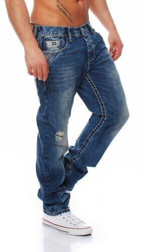 Cipo /& Baxx-c-1125 Regular Fit-Spessore Cuciture-Jeans Uomo Pantaloni-Nuovo