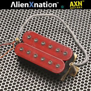 1985-Gotoh-MM-SuperDclone-Type-Pickup-Brown-Sound-Humbucker-F-Spaced-red