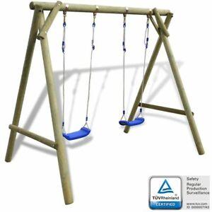 Vidaxl legno di pino altalena da giardino per bambini for Altalena da giardino per bambini chicco