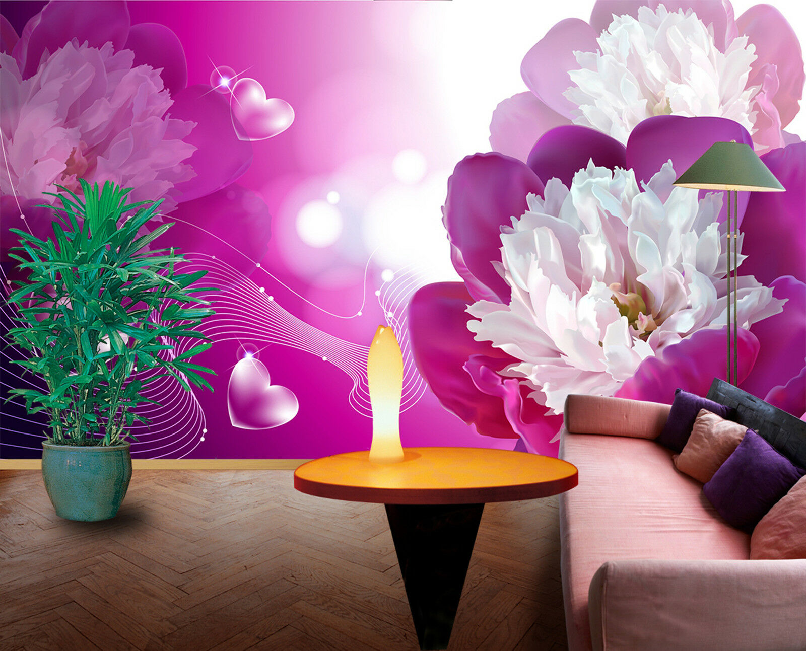 3D bluemen Blüte Fototapeten Wandbild Fototapete Bild Tapete Familie Kinder