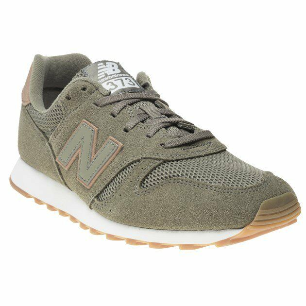 New Mens New Balance Grün 373 Suede Trainers Retro Lace Up