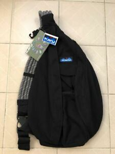 New-Kavu-Women-Sling-Rope-Bag-Day-Pack-Travel-Backpack-Black-Clearance-sale