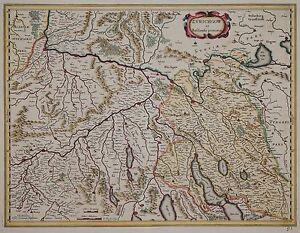 Cantons De Zurich, Aargau, Bâle-janssonius 1680-zurichgow Et Basiliensis Par Intérim...-afficher Le Titre D'origine V2g0j0jb-10110103-220430967