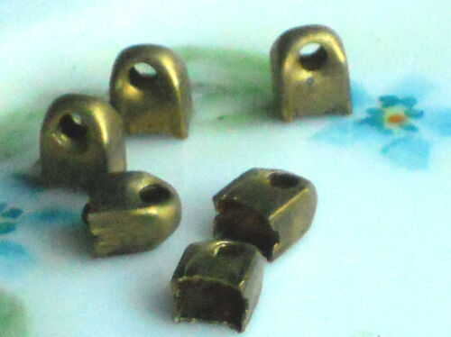 #343 Vintage Brass Bail Bails Shanks Shank Loop Bead caps Drops Square NOS