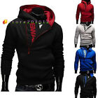 Men's Casual Slim Fit Side zipper Knitted Pullover Jumper Sweater Tops