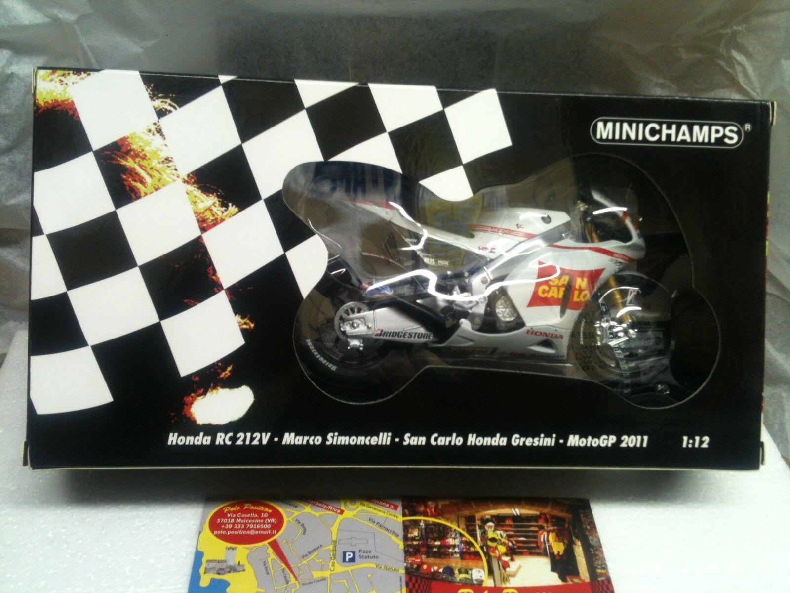 1 12 minichamps honda simoncelli Team gresini 2011 Free Shipping Worldwide NEW