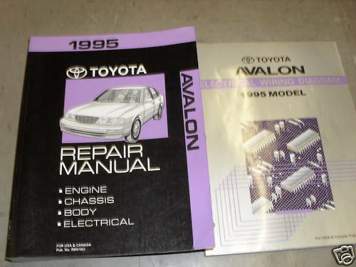 Diagram  1995 Toyota Corolla Service Repair Shop Set Oem