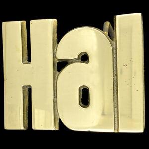 Hal-Harold-Espacio-Odisea-Nombre-Hippie-Occidental-Laton-70s-NOS-Vintage-Hebilla
