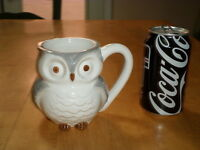 Owl Plus (3-d) Micro Sized Owl Inside, 3-d Image, Ceramic Jumbo Sized Coffee Mug