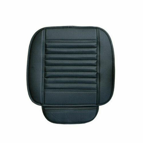 Universal Coche Cubierta de asiento silla de cuero PU FRONTAL COJÍN MANTA Protector Negro 2 un