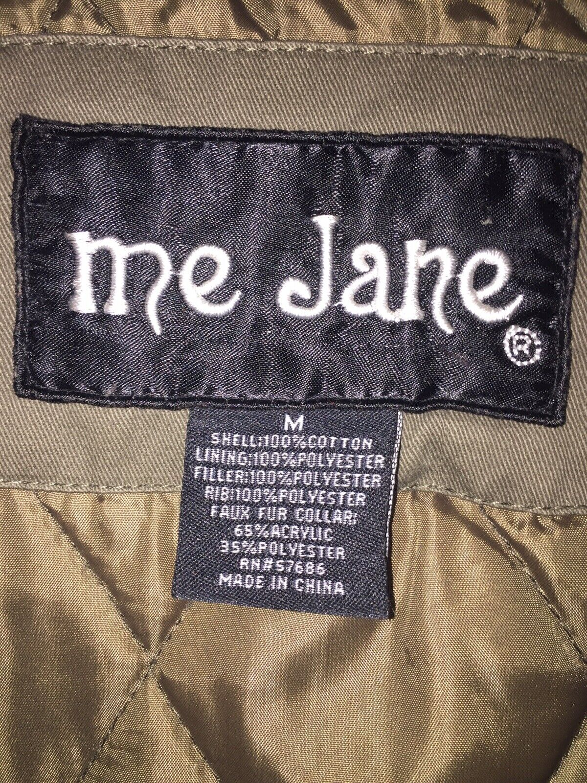Me Jane Olive Green Military Trench Coat/Jacket S… - image 3