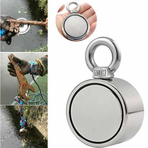 Details about  /Fishing Magnet Kit Double-Sided UPTO 1300 LBS Pull Force Strong Neodymium /& Rope