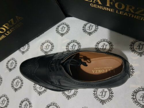 100/% GENIUNE LEATHER SHOES FOR MEN LA FORZA HIGH QUALITY CHEAP PRICE