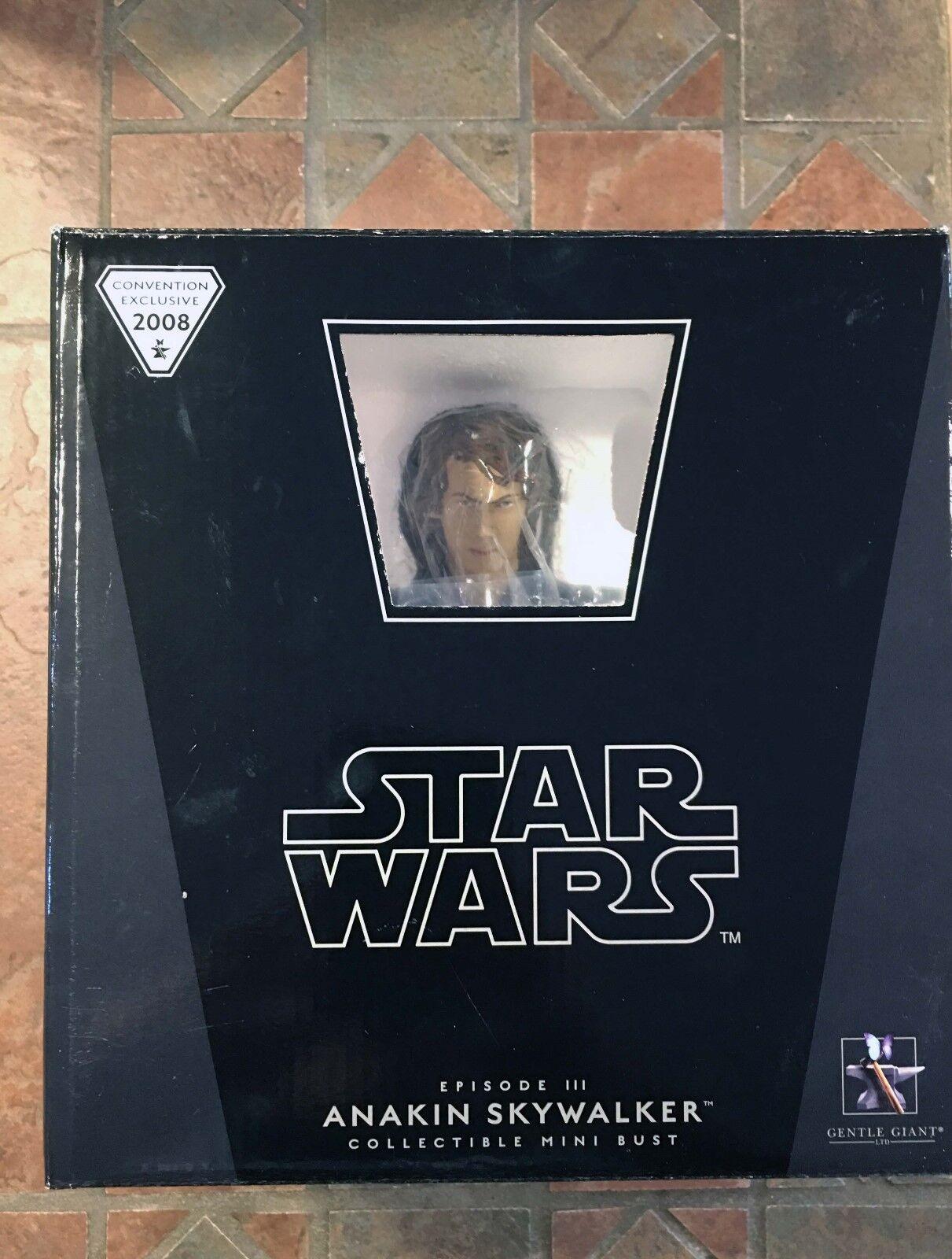 Star Wars Gentle Giant SDCC ANAKIN SKYWALKER Sealed MINI BUST Exclusive  3500