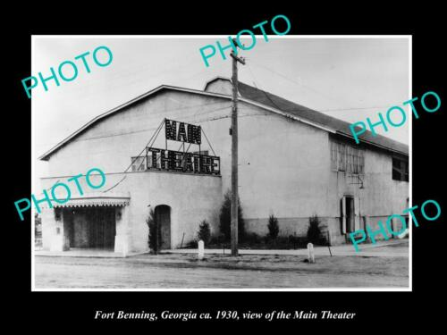 OLD 8x6 HISTORIC PHOTO FORT BENNING GEORGIA, VIEW OF THE MAIN THEATRE c1930