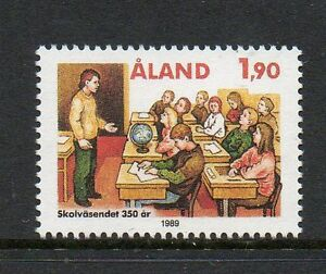2019 Latest Design Aland 1989 350th Anniv 1st Aland School Saltvik Sg39 Unmounted Mint Stamp Superior In Quality