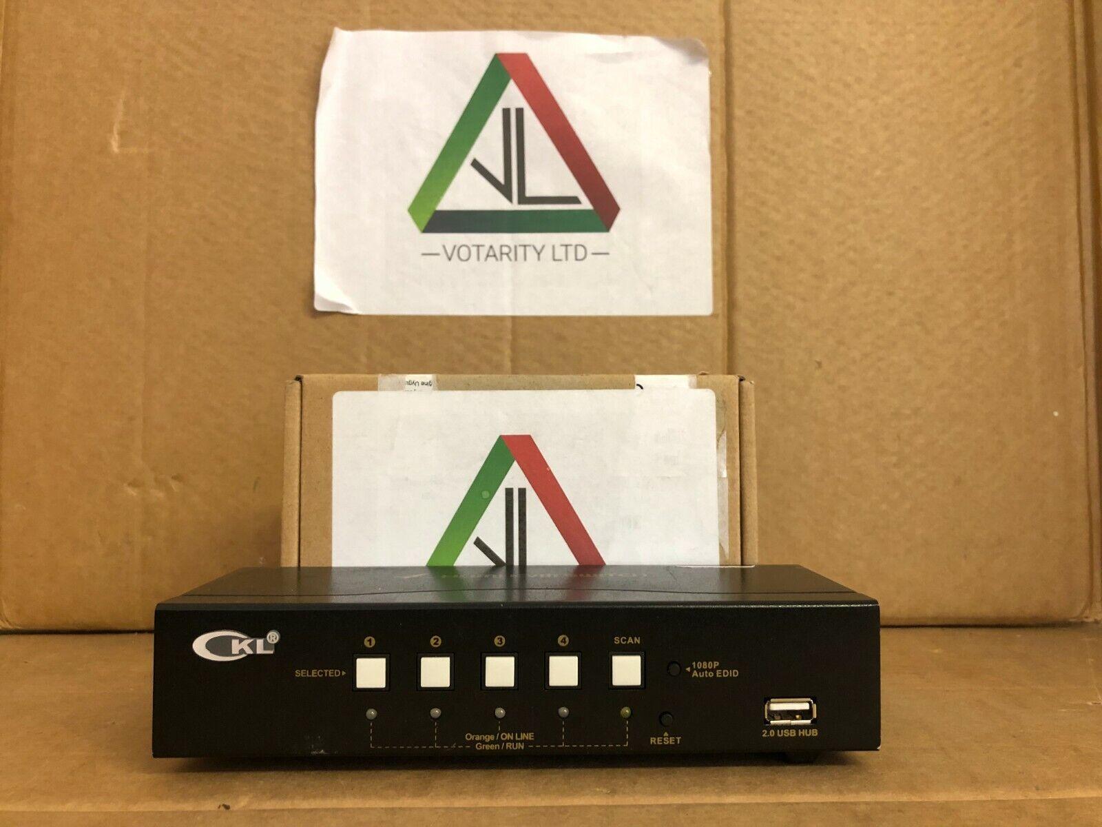 CKL 4-Port HDMI KVM Switch + USB CKL Model: CKL-94HUA HDMI KVM Switch (Inc VAT)