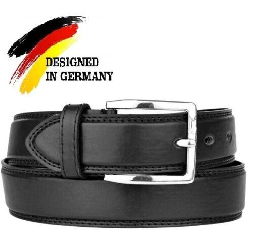 VEN TOMY Herren Gürtel Dornschließe Jeans Breite Ledergürtel Belt Echt Leder NEU