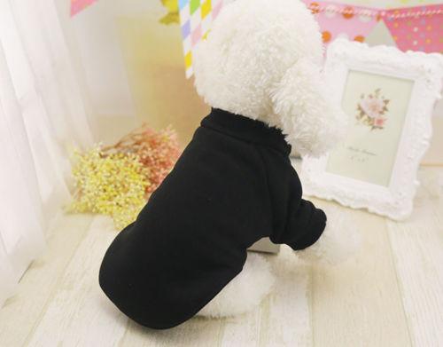 Pet Dog Cat Warm Solid Clothes Costume Vest Puppy T-Shirt Winter Coat Apparel