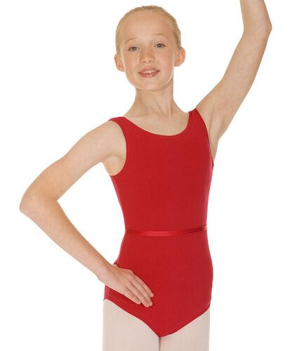 GIRLS COTTON LYCRA REGULATION RAD SLEEVELESS PRIMARY BALLET//DANCE LEOTARD /& BELT